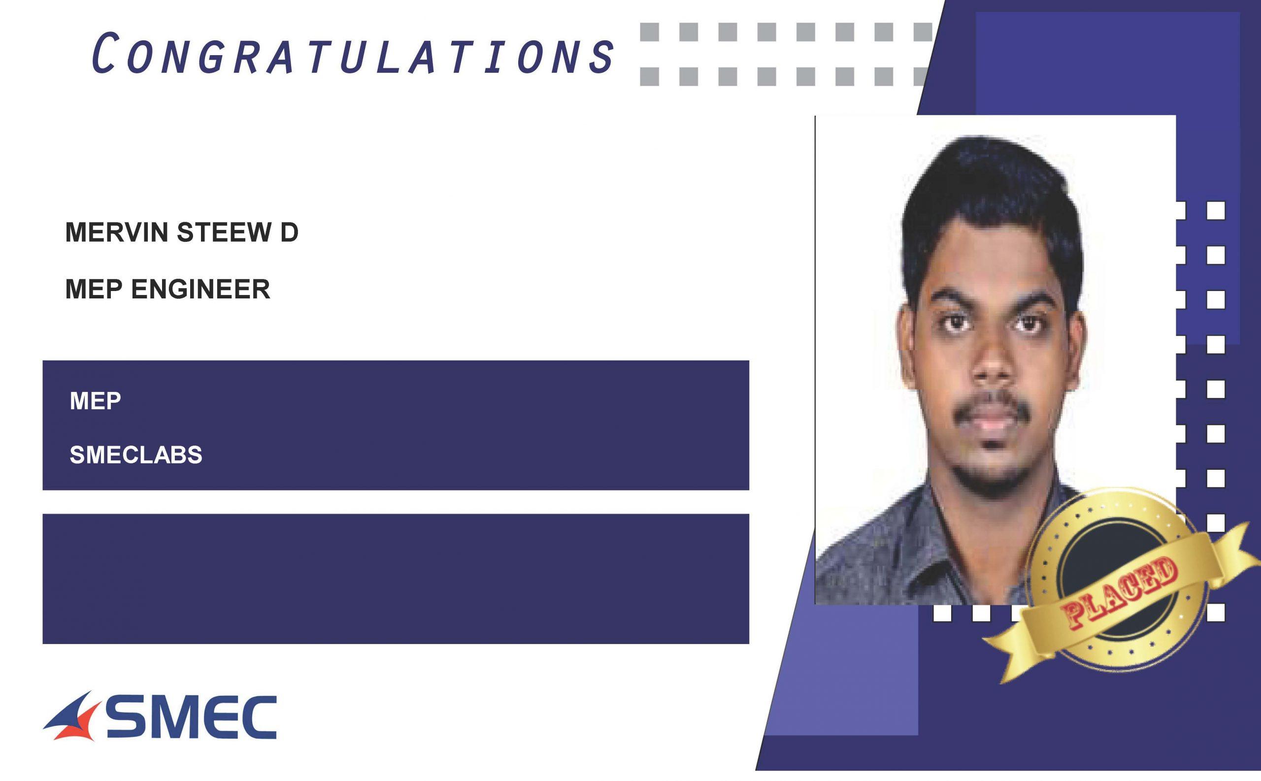 Mep engineer careers-Mervin Steew D