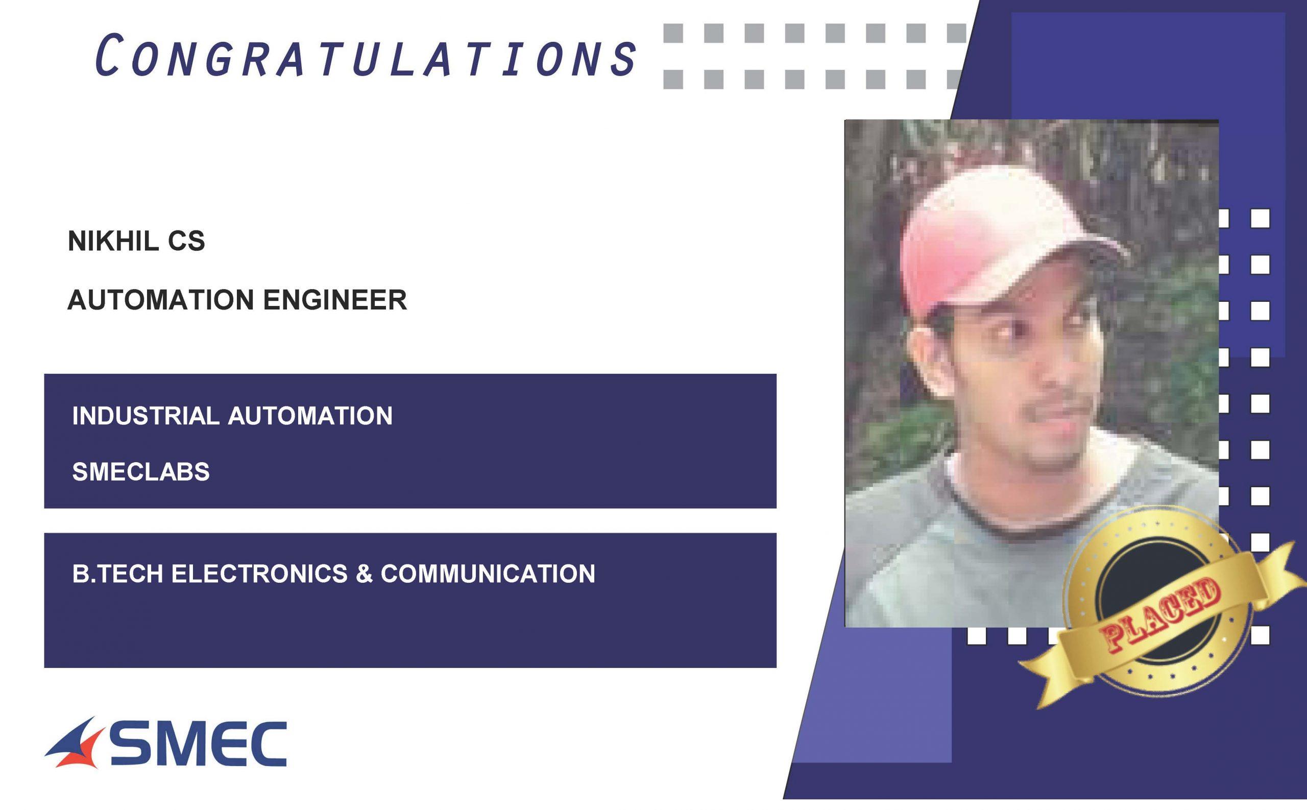 AUTOMATION ENGINEER CAREER-NIKHIL C.S
