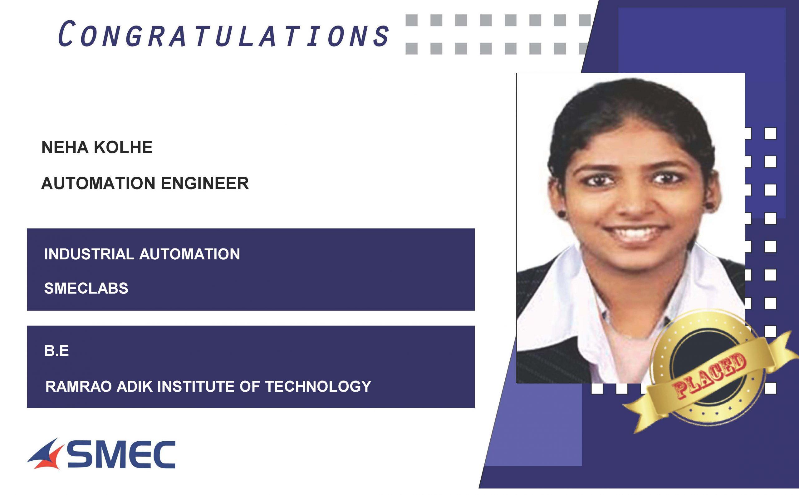 automation engineer-neha kolhe