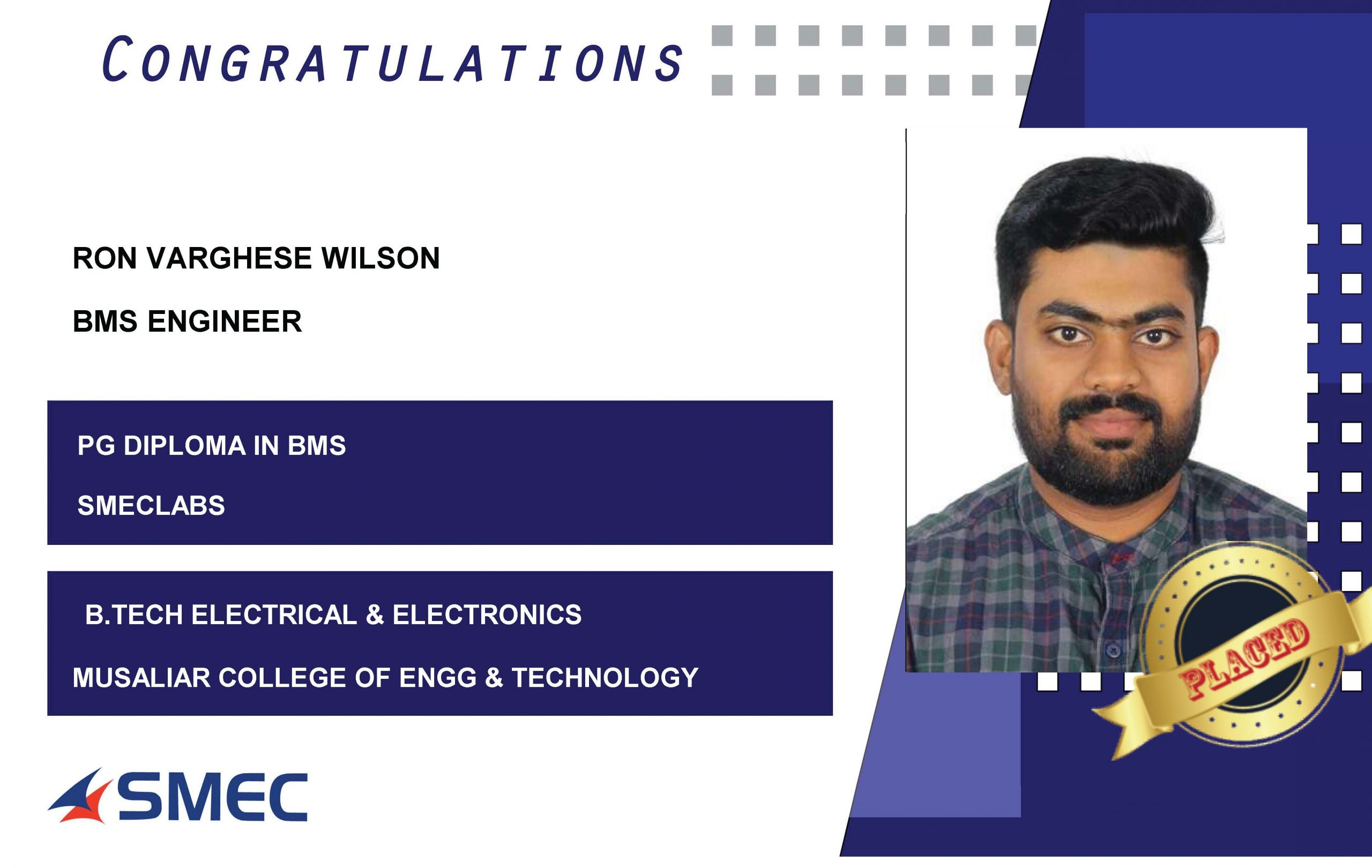 Ron Varghese Wilson- BMS Engineer