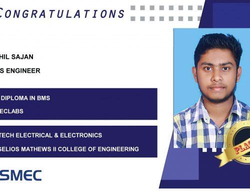 Akhil Sajan Placed as BMS Engineer