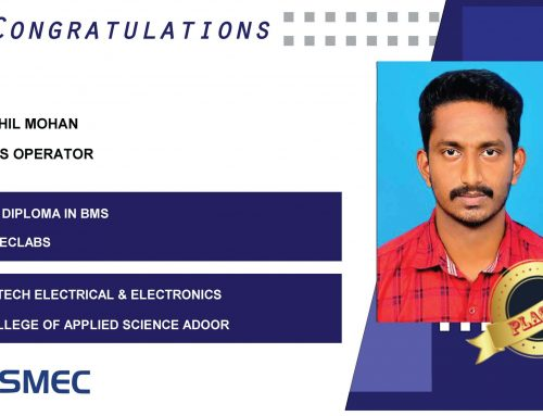 Akhil Mohan Placed as BMS Operator