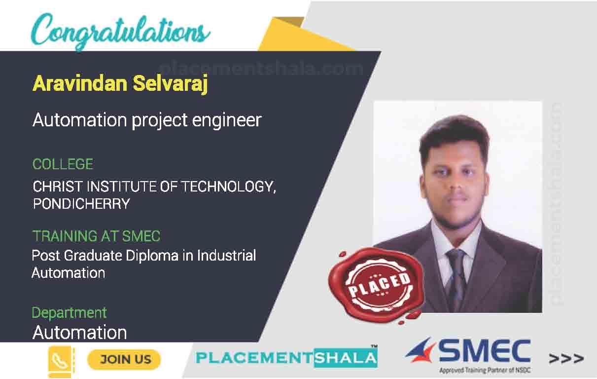 Aravindan Selvaraj Automation project engineer